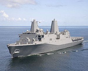 USS Green Bay (LPD 20) is underway from Northrop Grumman Shipbuilding Avondale Operations in New Orleans.