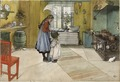 The Kitchen. From A Home (26 watercolours) (Carl Larsson) - Nationalmuseum - 24211.tif