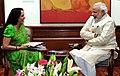 The Lok Sabha MP, Ms. Hema Malini calls on the Prime Minister, Shri Narendra Modi, in New Delhi on November 05, 2014.jpg