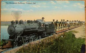 Venice Miniature Railway - Steam loco No 2 of the Venice Miniature Railway