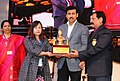 The Minister of State for Youth Affairs and Sports (IC) and Information & Broadcasting, Col. Rajyavardhan Singh Rathore presenting the awards, at the Closing Ceremony of the 22nd National Youth Festival.jpg