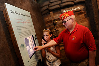 Westminster College (Missouri) - People visiting a World War II exhibit at the National Churchill Museum, located on the Westminster College Campus