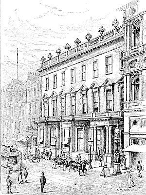 New Club, Edinburgh - The original New Club building on Princes Street, designed by David Bryce