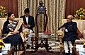 The President of Nepal, Ms. Bidya Devi Bhandari meeting the President, Shri Pranab Mukherjee, at Rashtrapati Bhavan, in New Delhi on April 18, 2017.jpg