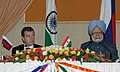 The President of Russia, Mr. Dmitry A. Medvedev and the Prime Minister, Dr. Manmohan Singh at the Joint Press Conference, in New Delhi on December 05, 2008.jpg