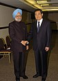 The Prime Minister, Dr. Manmohan Singh meeting the President of China, Mr. Hu Jintao, on the sidelines of BRIC and IBSA Summits, in Brasilia, Brazil on April 15, 2010 (1).jpg
