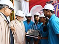 The Prime Minister, Shri Narendra Modi dedicates the Modernised and Expanded Bhilai Steel Plant to the Nation, in Chhattisgarh on June 14, 2018. The Chief Minister of Chhattisgarh, Dr. Raman Singh is also seen (1).JPG