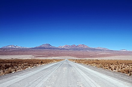 Road to the ALMA's Operations Support Facility and then on further to the Chajnantor Plateau at 5000 meters above sea level. The Road to the Stars.jpg