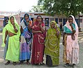 The Rural women showing mark of indelible ink after casting their votes, at a polling booth, during the 5th Phase of General Elections-2014, in Distt. Sihore, Madhya Pradesh on April 17, 2014.jpg