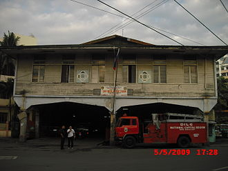 San Nicolas Fire Station - Facade of the San Nicolas Fire Station in Manila.