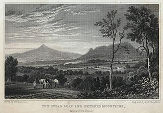The Sugar Loaf and Skyrrid mountains, Monmouthshire