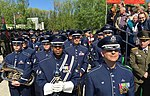 The USAFE Band gather at a staging point before marching in the World War II Victory Day Parade.jpg