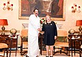 The Vice President, Shri M. Venkaiah Naidu calling on the President of Malta, Ms. Marie-Louise Coleiro Preca, at San Anton Palace, Halbalzan, Malta on September 17, 2018.JPG