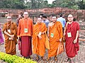 The delegates of the International Buddhist Conclave- 2018, at the ancient Nalanda University Ruins, in Nalanda, Bihar on August 25, 2018.JPG