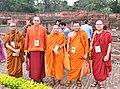 The delegates of the International Buddhist Conclave- 2018, at the ancient Nalanda University Ruins, in Nalanda, Bihar on August 25, 2018.JPG