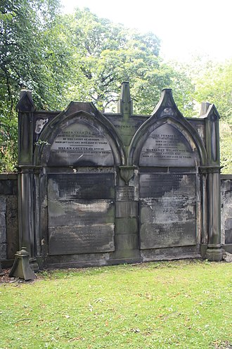 Susan Edmonstone Ferrier - The grave of Susan Ferrier, St Cuthberts Churchyard, Edinburgh