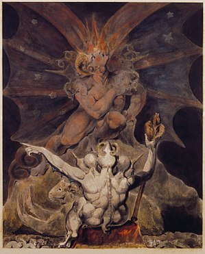 Number of the Beast - The number of the beast is 666 by William Blake.