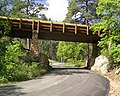 The pigtail bridge on SD Hwy 87 is one of two bridges in the park. After crossing over part of the highway, the road turns (db8b6283-fa0b-4975-b1a1-cf9ea25d64ce).JPG
