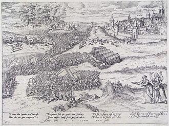 Rheindahlen - Image: The siege of Dalen on july 22, 1568 (Frans Hogenberg)