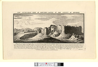 The south west view of Rhuthin castle: in the county of Denbigh