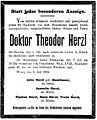 Theodor Herzl Todesanzeige death notice.jpg