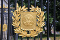 Theodore Roosevelt Gate - War Office seal - Arlington National Cemetery - 2011.JPG