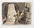 This depiction of soldiers at leisure in a country hotel was captured when Ardizzone was stationed with the Southern Command at Salisbury in June 1940. Art.IWMARTLD333.jpg