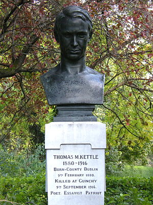 English: Thomas_M._Kettle_memorial_in_St._Step...