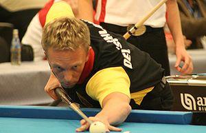 German pool player Thorsten Hohmann at the Eur...