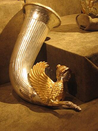 Borovo Treasure - Image: Thracian treasure Borovo Sphynx 1
