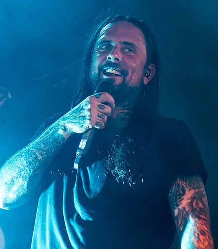 "Vocalist Chris ""CJ"" McMahon Thy Art Is Murder With Full Force 2018 08.jpg"