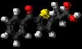 Tiaprofenic acid molecule ball.png