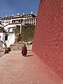 Tibet Ganden Monastery in 2008 with partial ruins from its destruction after 1959 Tibetan uprising.jpg