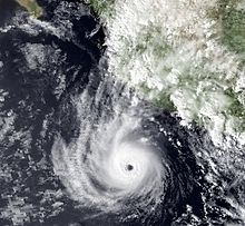Hurricane Tico near peak intensity on October 16, 1983