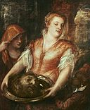 Titian - Salome with the head of John the Baptist and two assistants.jpg