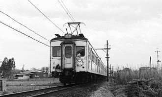 Tobu Ogose Line - Image: Tobu 7800 Ogose Line between Ogose and Bushu Karasawa 19770419