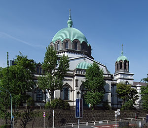 Awajichō Station - The nearby Holy Resurrection Cathedral