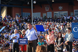Tom Ridge - Tom Ridge at rally for John McCain