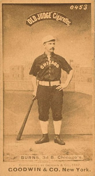 Tom Burns (baseball) - Image: Tom Burns (baseball)