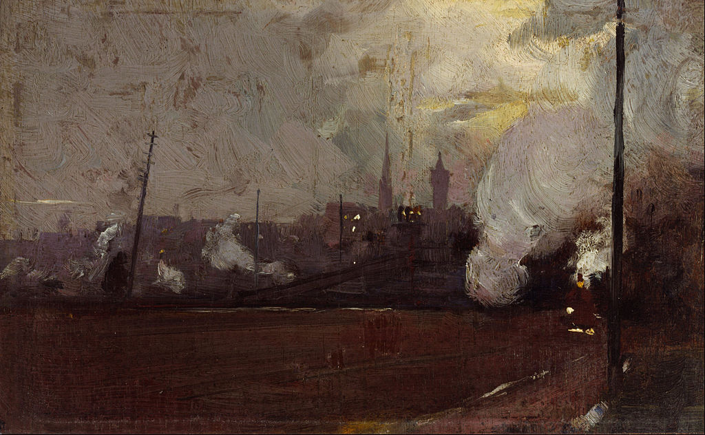 Tom Roberts - Evening train to Hawthorn - Google Art Project