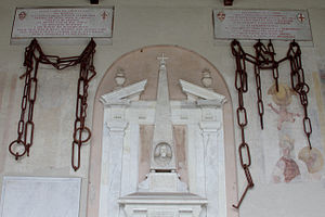 Porto Pisano - Chains from Porto Pisano taken by Republic of Genoa (returned in 1860 to Pisa)