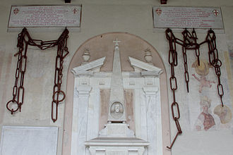 Battle of Meloria (1284) - Chains from Porto Pisano taken by Genoa (returned in 1860 to Pisa)