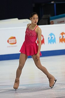 Tomoe Kawabata at the 2019 Junior World Championships - FS.jpg