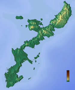 Topographic map of Okinawa Island.png
