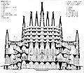 Torii, T. Gaudi, Proyecto de Tanger 1892-93, seccion interpretada por Torii 1981-82.jpg