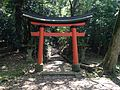 Torii for Mount Ogurayama in Usa Shrine.JPG