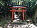 Torii for Mount Ogurayama in Usa Shrine.JPG