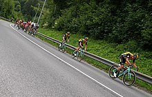 468fb0f13 Team LottoNL-Jumbo leading the Peloton on 3rd stage of Tour of Slovenia  2018