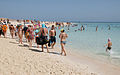 Tourist on the beach of the Paradise Island of Hurghada.jpg