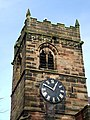 Tower and Clock, Church of St Mary and St Luke, Shareshill, Staffordshire - geograph.org.uk - 662269.jpg